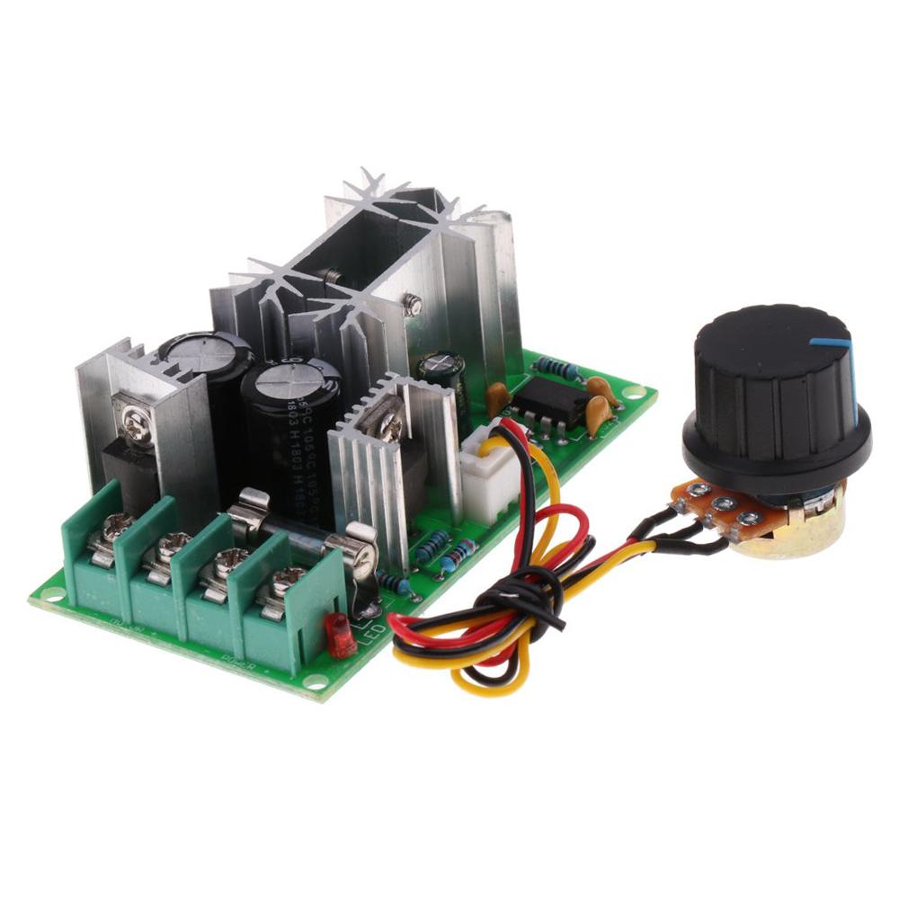 Controlador de Velocidad PWM DC Motor DC 10V-60V 12V 24V 36V 48V 20A con potenciómetro