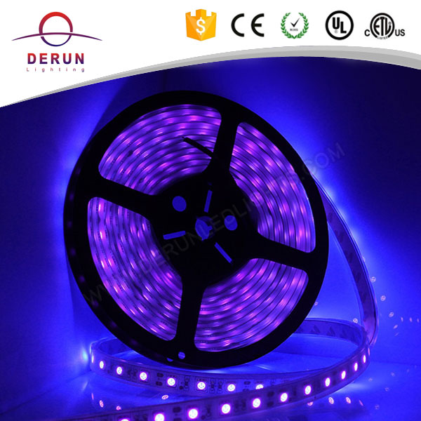 DC12V/24V UV Super Bright Waterproof SMD 5050 LED Strip 5 Meter Roll 60 leds