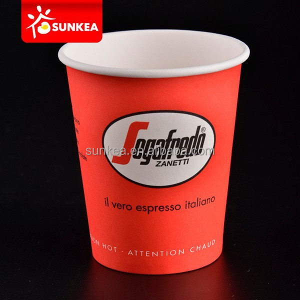 Paper Material and Beverage Use 7oz paper cup