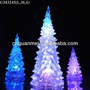 Set of three acrylic led light color alternating wholesale artificial christmas tree