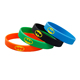 China Suppliers Debossed Promotion Gift Custom Logo Wrist Band Mixed Colours Wristbands Silicone Bracelet Led Watch