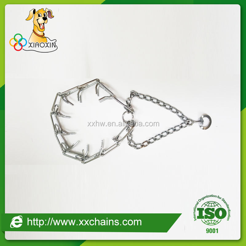 prong chain collar for dog training