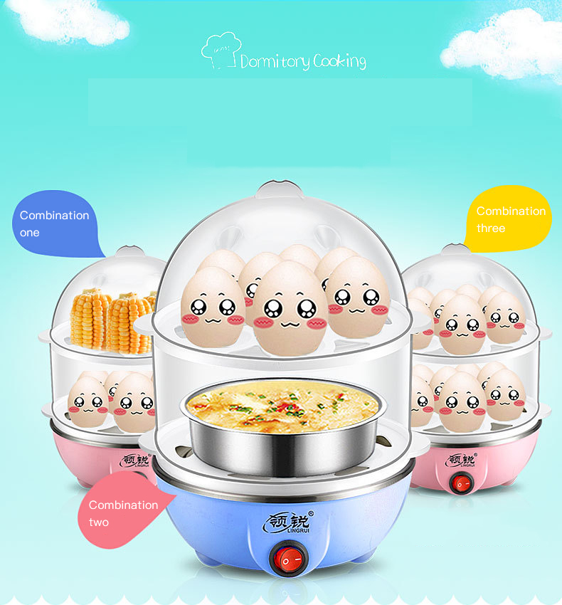 Multi Fungsi Double Stainless Steel Rumah Sarapan Mesin Egg Boiler Cooker