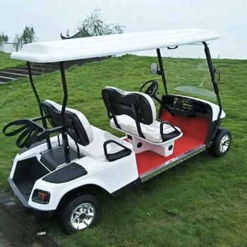 Electric golf cart with fiberglass bodies