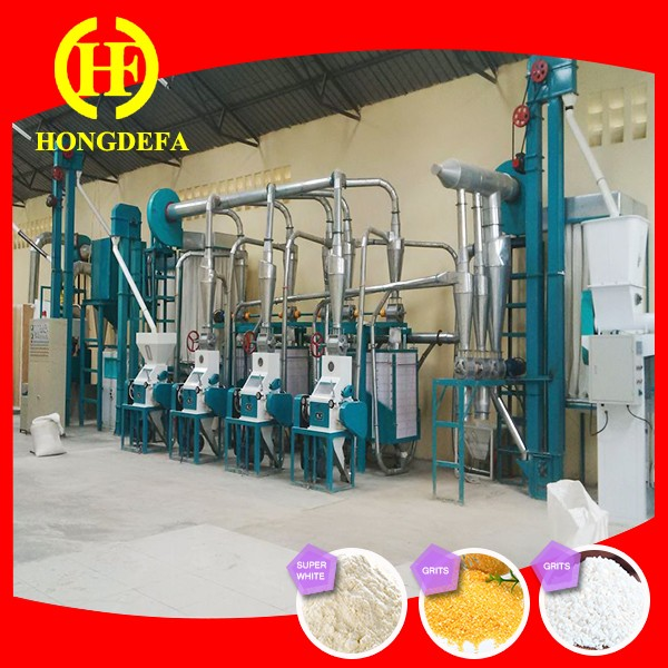 Low price maize grinding/maize flour milling machine/low price flour mill plant