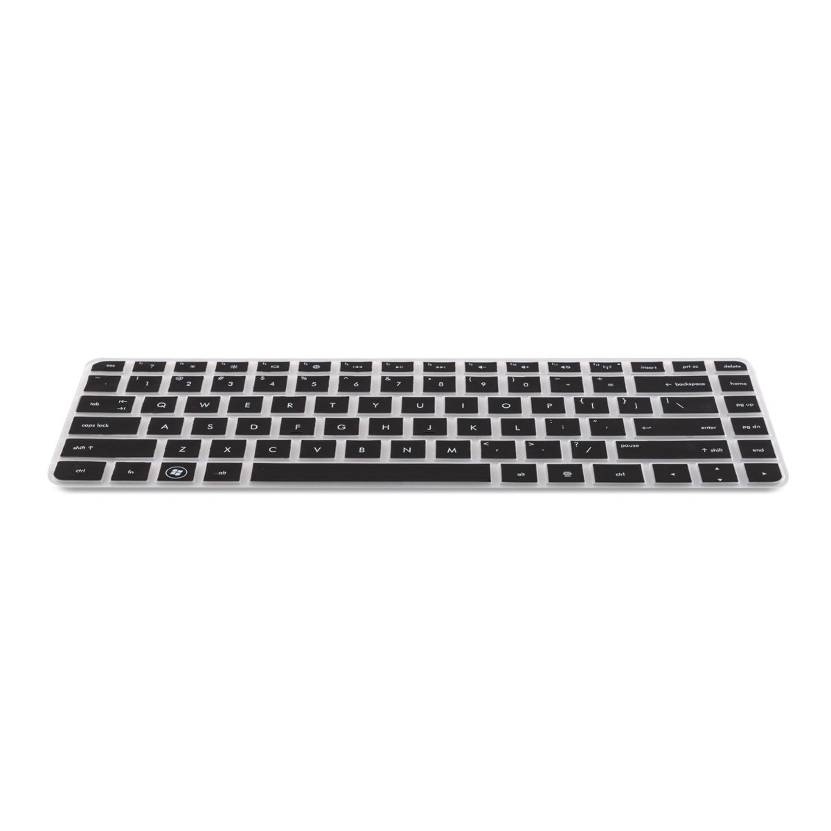 US kwmobile Rugged ultra-thin Keyboard Protector QWERTY Silicone for Asus Zenbook in Black effective protection from dirt