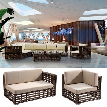 Superbe Modern Lobby Sofa Design PE Rattan Hotel Lobby Sofa