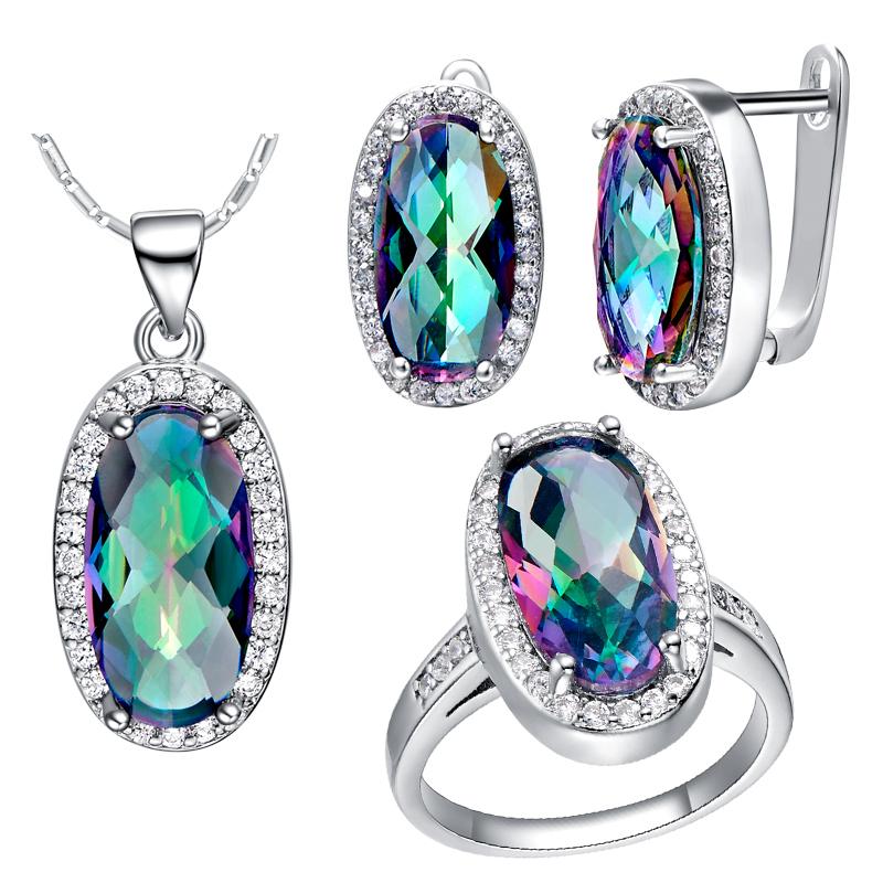 Aliexpress.com : Buy 925 Silver Wedding Jewelry Set