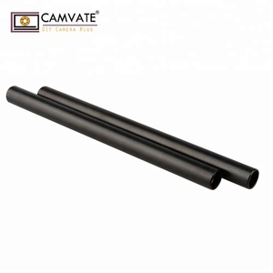 CAMVATE 2pcs Aluminum Anodized 15mm 20cm M12 Rod for DSLR Matte Box Follow Focus Monitor Shoulder Mount Rig