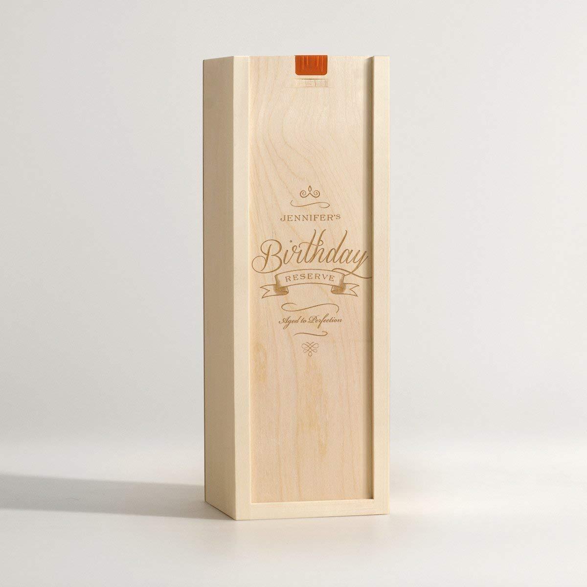 Personalized Birthday Wine Box - Fancy Birthday Reserve//Personalized Wine Box Gift