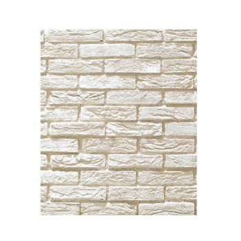 Artificial indoor interior stone veneer wall cladding white brick tiles