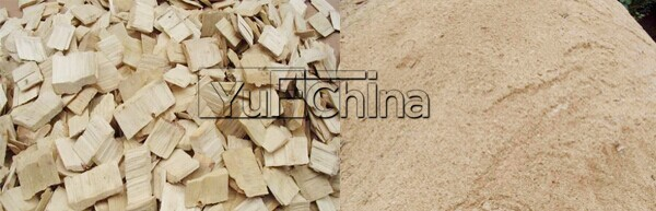 2000kg/hour 37kw wood chipper hammer mill