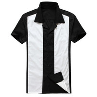 black with white panel mens casual clothing free drop shipping suppliers
