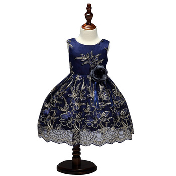 04574e5b83fe Frock Cutting Latest Girls Party Wear Lace Dresses For 3-8 Year Old ...