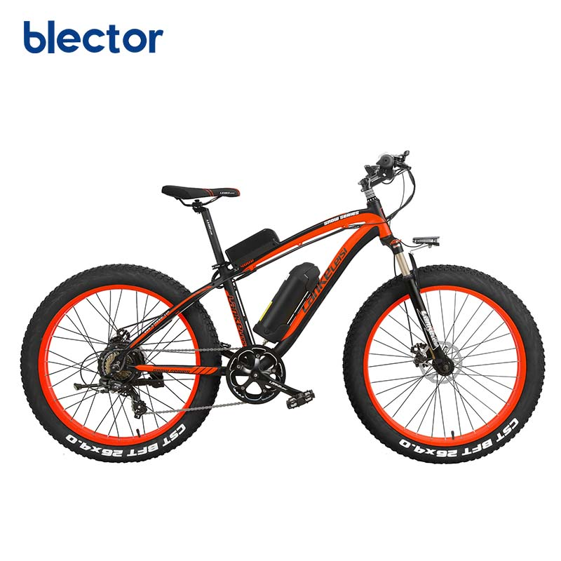 1000W 48V Mountain Snow Fat Tire Ebike OEM Fat Tire Electric Bikes, Red;blue;green or oem