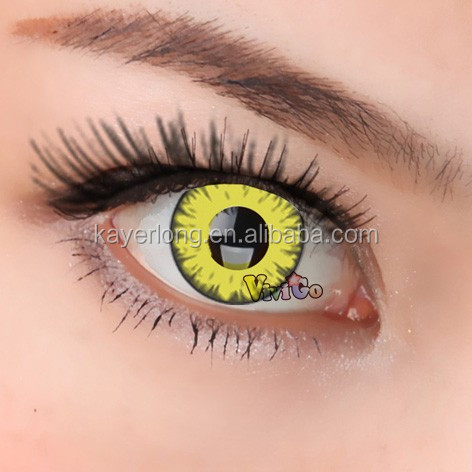 Cosplay coloré lentilles de contact CL261 DIABLE JAUNE
