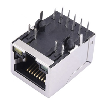 100M Transformer 10/100Base-TX 10-Pin Balun RJ45 Connector with POE Free Sample Good Price
