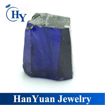 A+ grade raw cubic zirconia synthetic tanzanite rough