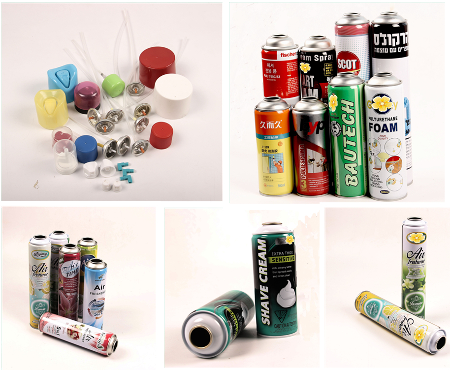 tinplate CMYK printing empty aerosol can for air fresher, shave cream