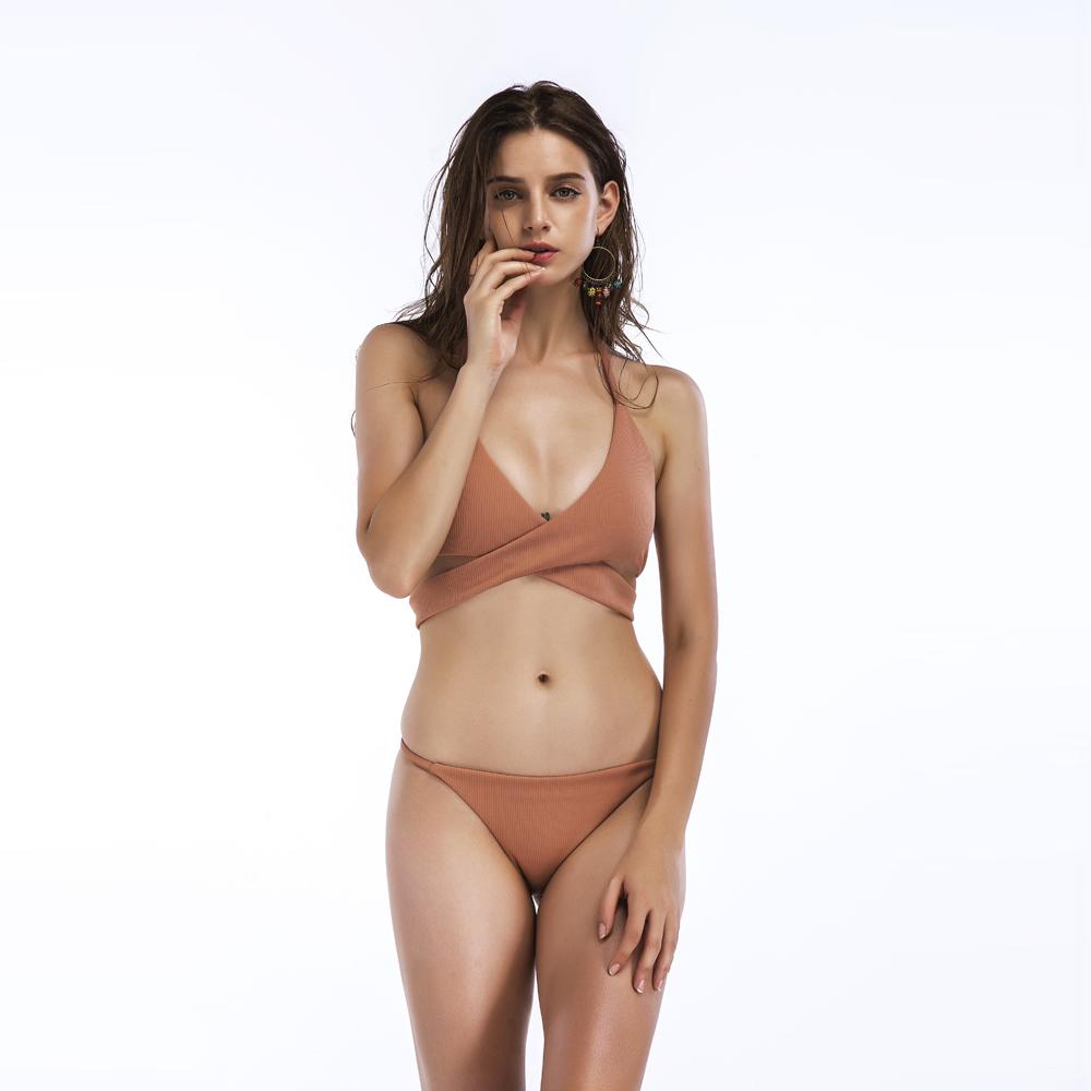 Yoga High Cut Sexy High Waist Swimsuit Bikini Women Brazilian Thong Bikini Bandage Swimwear Female Push Up Bathing Suit Swimming Suit Shrink-Proof
