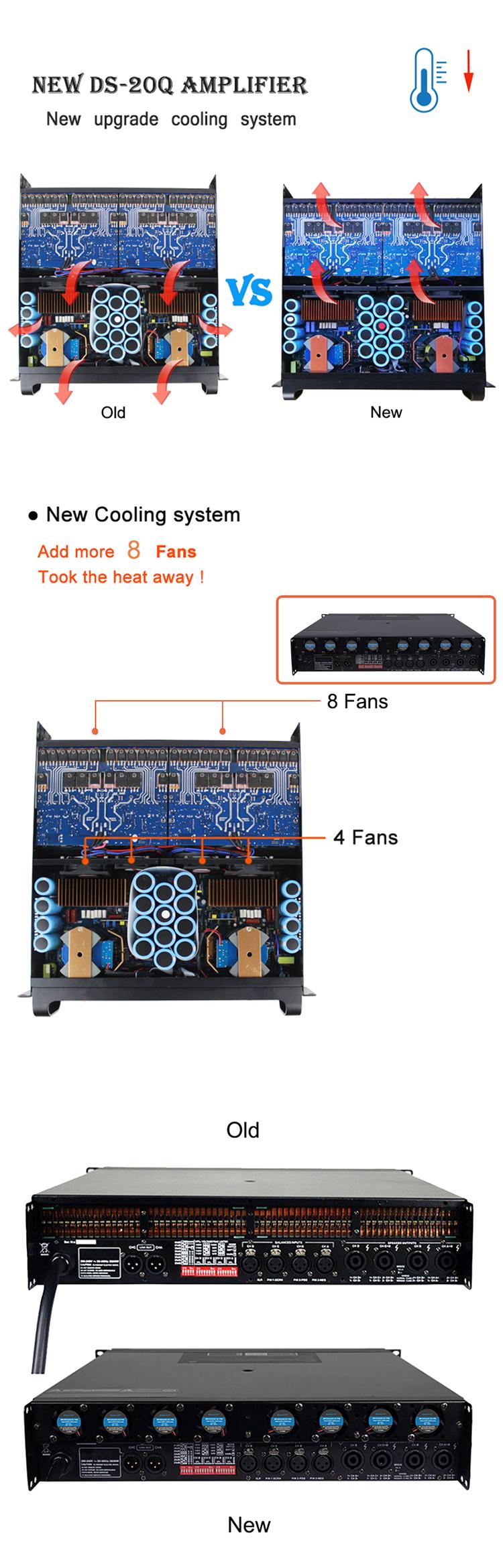 Sinbosen 4 channel PA professional amplifier subwoofer FP22000Q 10000 watt power amplifier