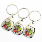 Wholesale Metal Coin Holder Keychain, Coin Key Ring Trolley Token Metal Holder