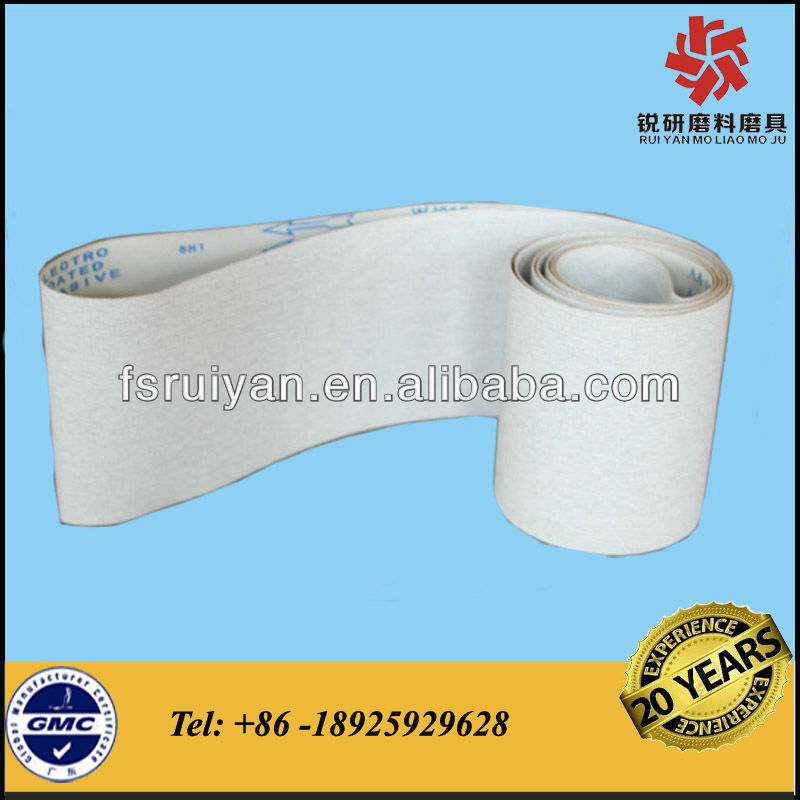 WJ315S Flexible coating abrasive grind belt for wood working