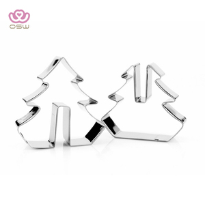 3D stereo biscuit mould, stainless steel sugar turning cake mold, Christmas DIY baking tool