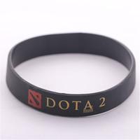 Fashion Jewelry DOTA 2 Silicone Rubber Bracelets Black Blue Green Dota2 Bracelet