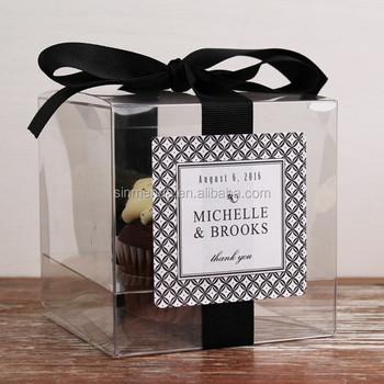 Custom Make Clear Souvenir Gift Plastic Box Transpa With Ribbon
