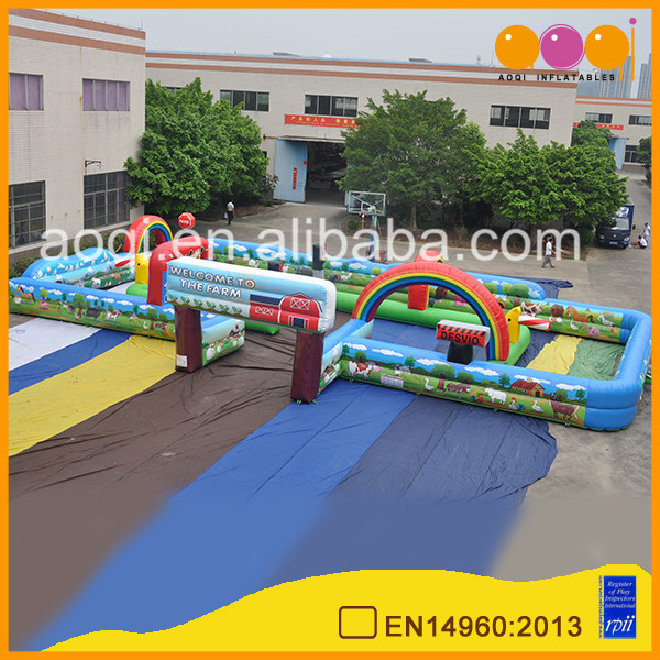 high quality safe bumper car inflatable race track kid toy inflatable air track for sale
