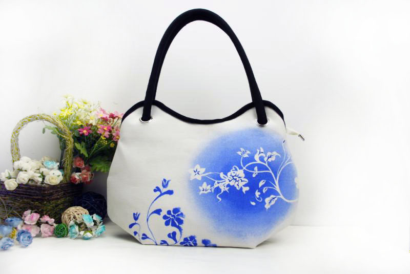 Chinese style women hand bag totes China culture beauty fashion leisure totes handpainted canvas bag - S-5