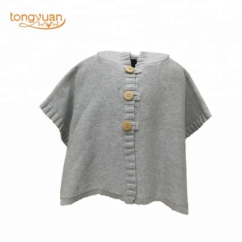 3a83b71b30ad Popular Fashionable 100% Cotton New Design Baby Girl Poncho Cape Sweater