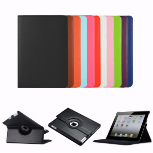 tablet cover 360 rotating high quality flip PU leather case for iPad mini 4 cover all iPad models cover