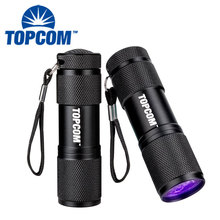 395 nm LED UV Flashlight Blacklight Scorpion 9 LED Ultra Violet UV Flashlight
