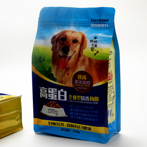 plastic packaging pet food bag Side gusset top pet food packaging bag flat bottom bag wholesale