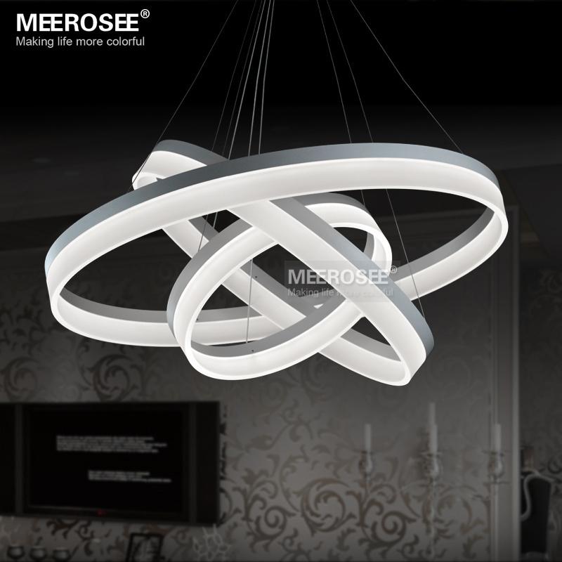LED Runde Kronleuchter Moderne Acryl Lampe Licht Für Esszimmer  Led Glanzmittel 3 Ringe Restaurant LED