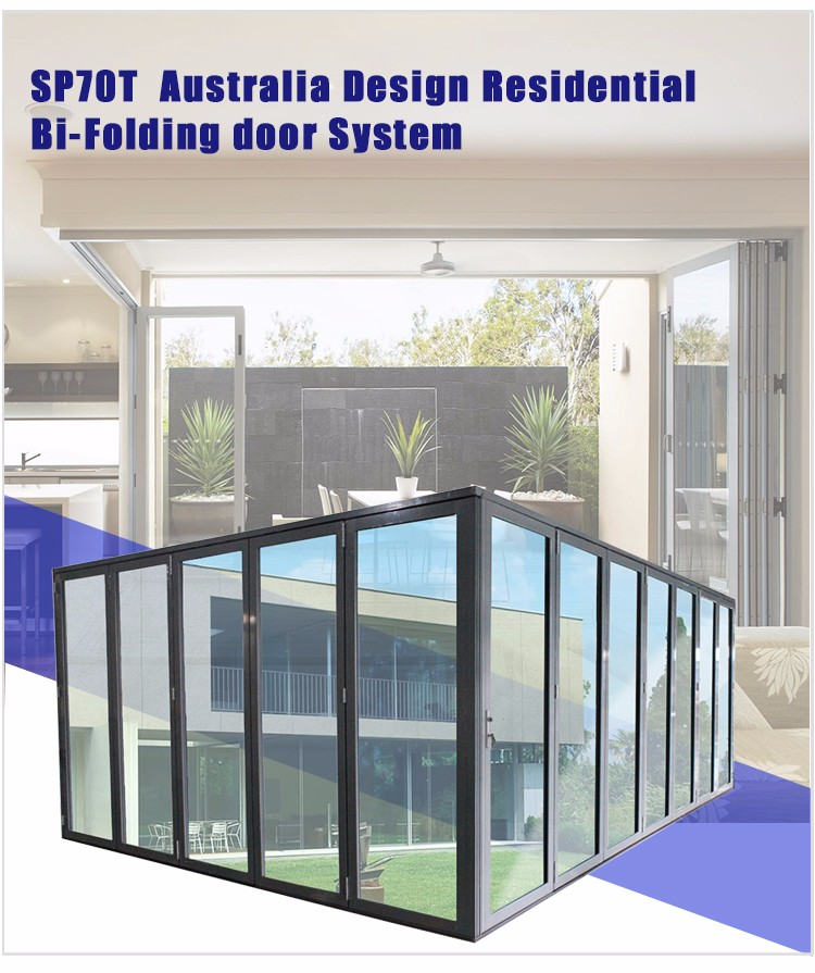 Super high quality from Chinese factories  Aluminum Luxury Partition Wall Lowes Glass Interior Folding Doors
