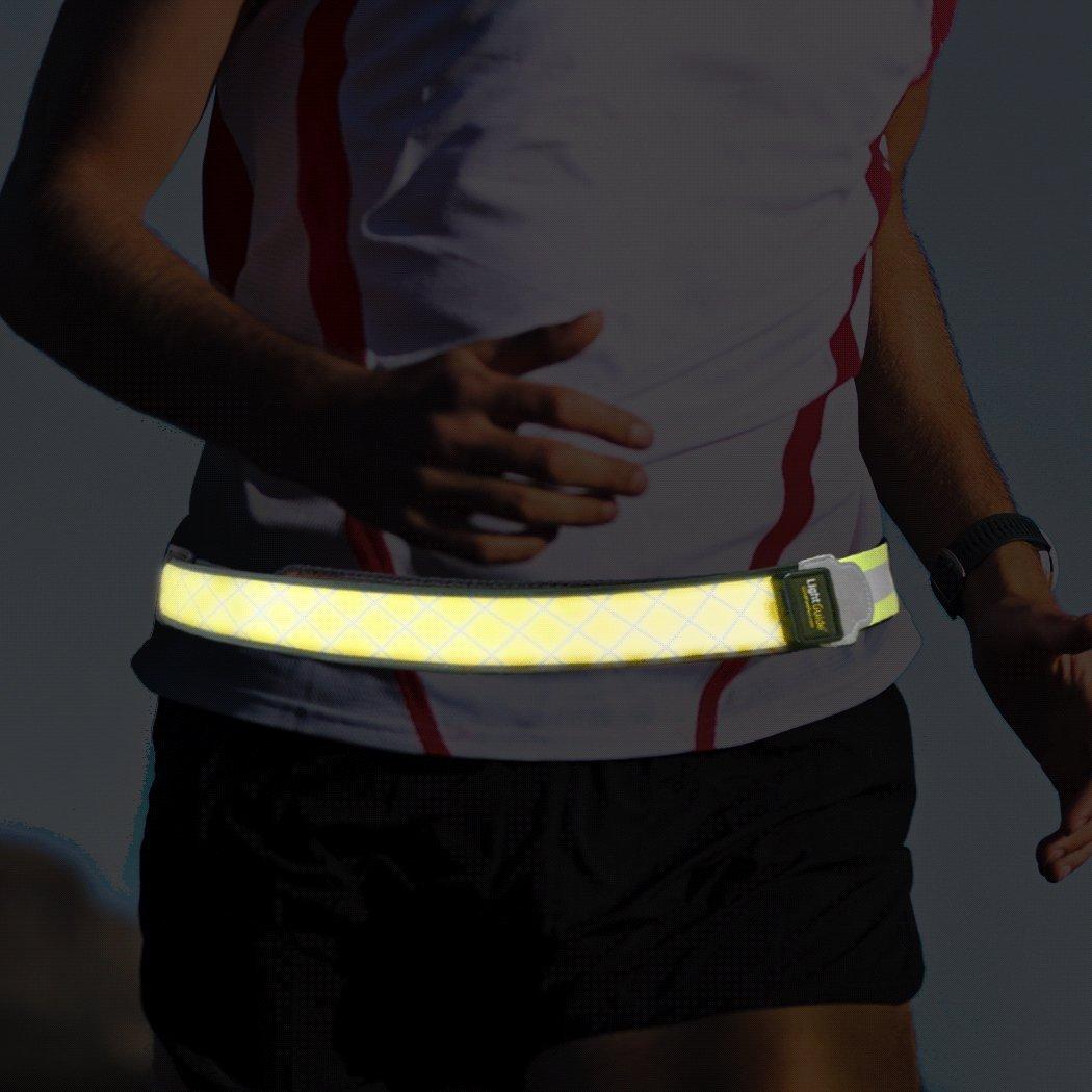 LightGUIDE Rechargeable LED Waist Belt LightBAND | Running Lights by Gone For a Run