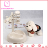 White Dog Auto Water Flow Drinking Bowls