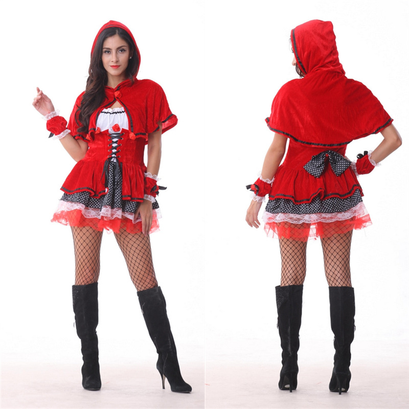 onen 2016 Hot selling little red hood costume Adult Womens Halloween Costumes