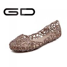 Elegante cómoda plana zapatos tacon niña sandalia hecha
