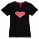 led light up sound activated t shirts led party night club shirts EL Musick shirts