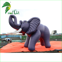 Giant Cute Realistic Inflatable Cartoon Animals Elephant / PVC Promotion Standing Inflatable Cartoon Mascot Elephant