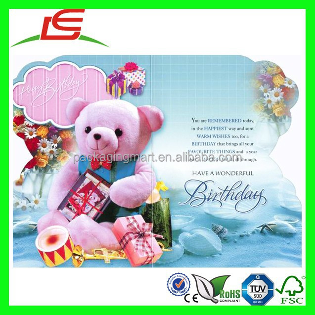 N771 Fun 123 Birthday Wishes Card 3d Greeting Wholesale Alibaba China