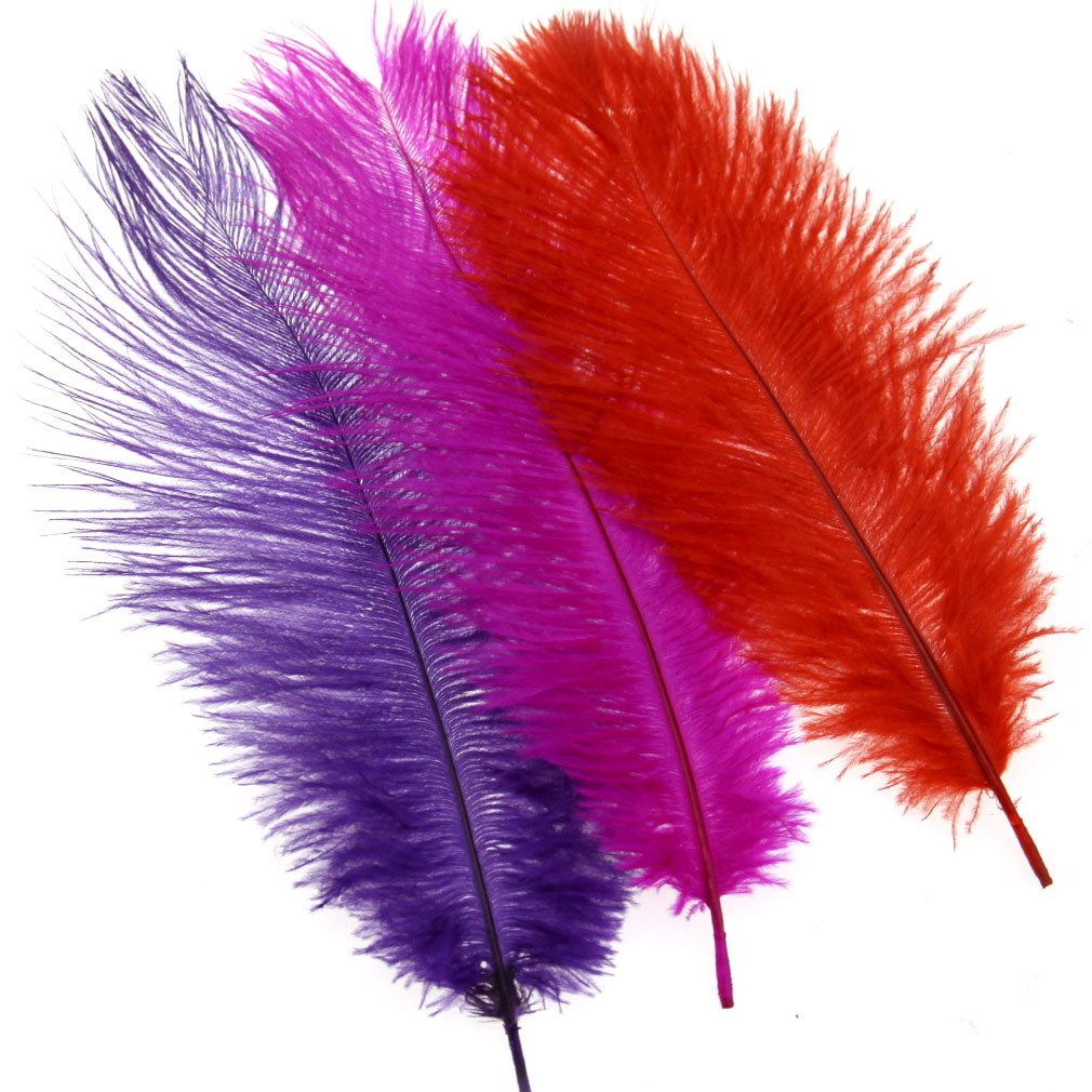 "Multi Colours Artificial Feathers Arts Crafts 10""-12"" Long"