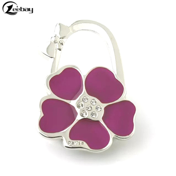 Portable Handbag Hanger Flower Shape Magnetic Purse Holder Hook