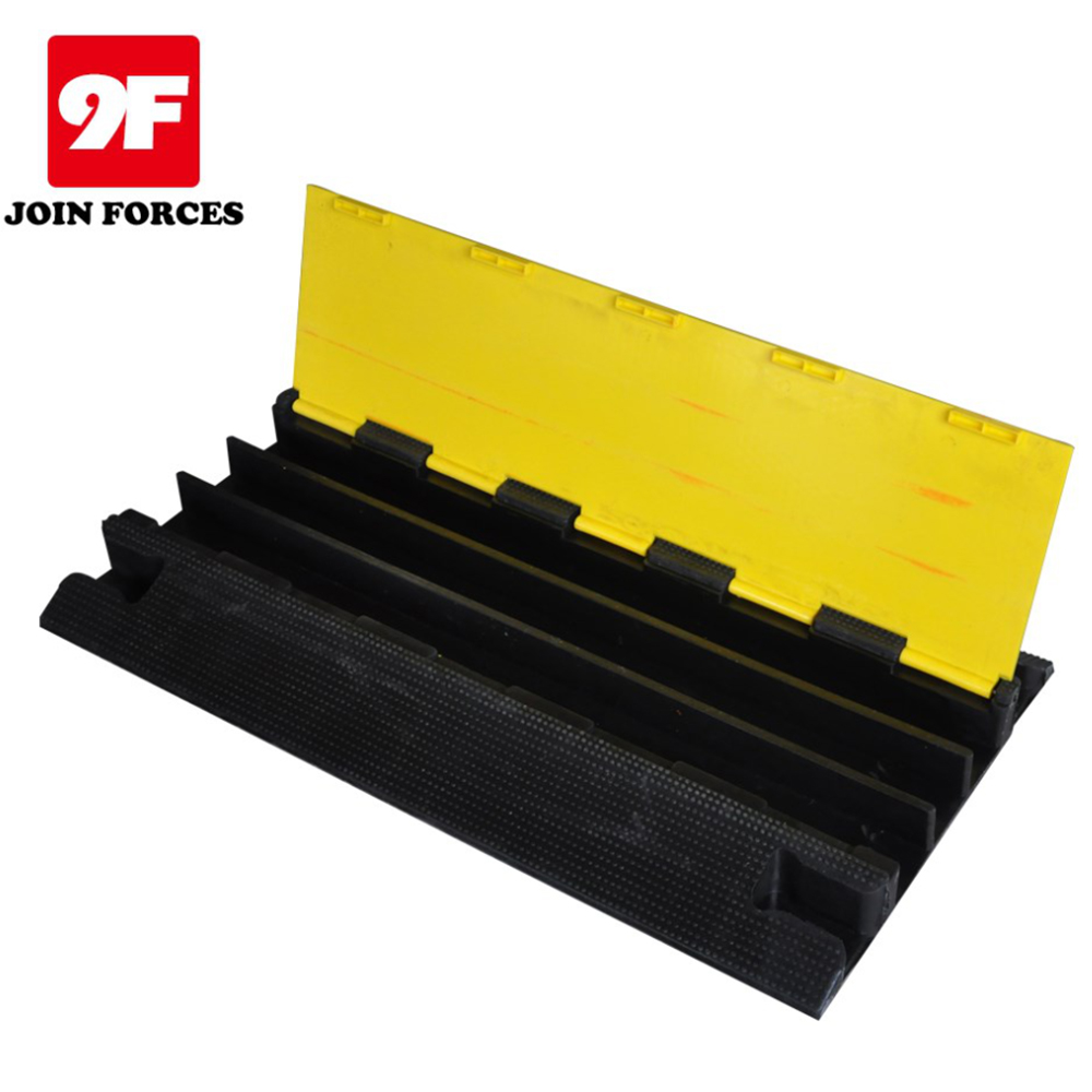High quality 3-channel heavy duty cable protector rubber ramps cable covers