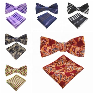 Customize High Quality Self Bow tie Men's Polyester Self Bowtie