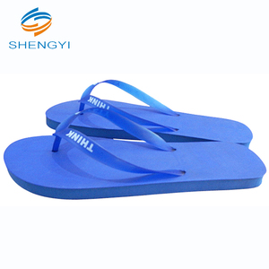 Fancy men eva pvc custom design logo print flipflop slipper